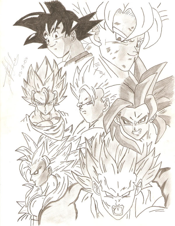 Dragonball gt drawing