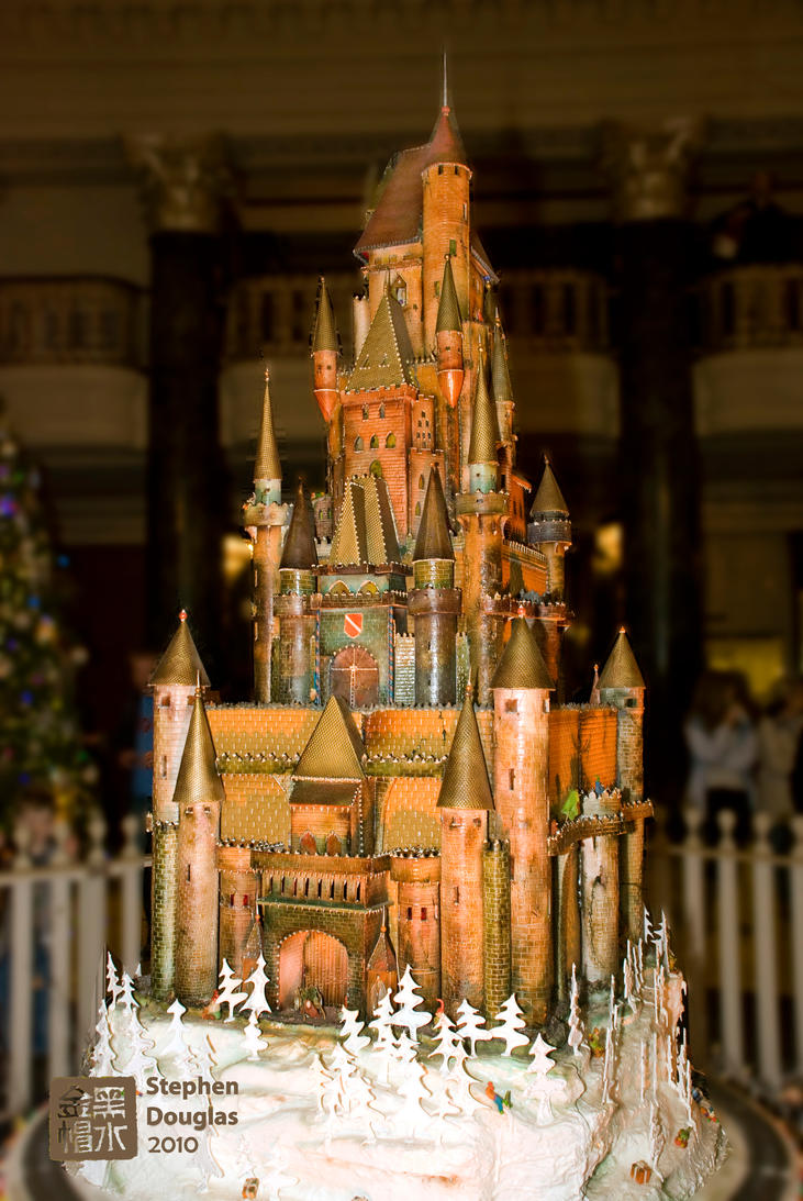 gingerbread castle 2010 by zoxesyr on deviantart