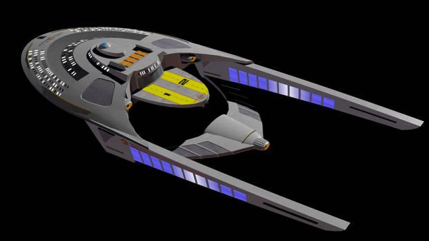 Star Trek Lower Decks 32nd C - USS Clovis aft view