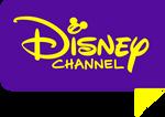 Disney Channel Text (Purple Yellow)