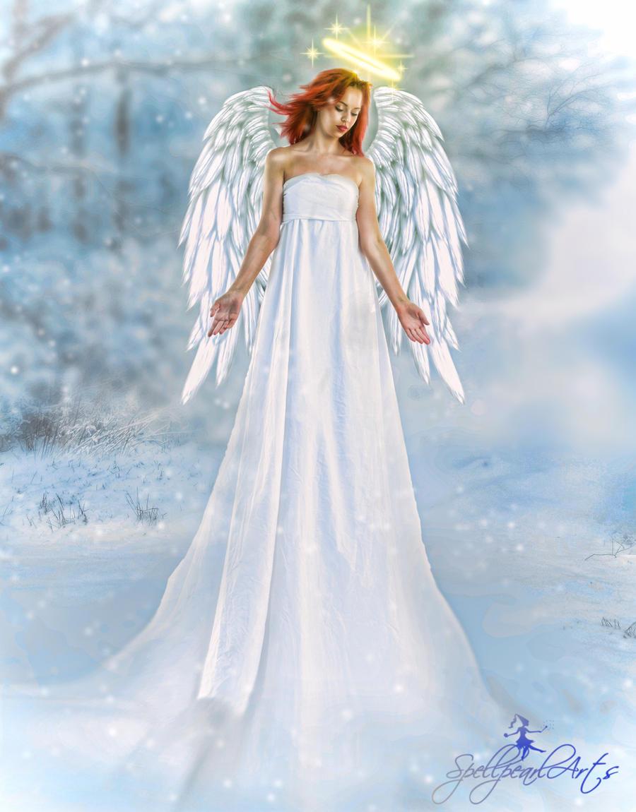 Angel of Christmas by SpellpearlArts