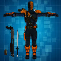 Deathstroke Costume + Props_The Movies Game MOD by benreally