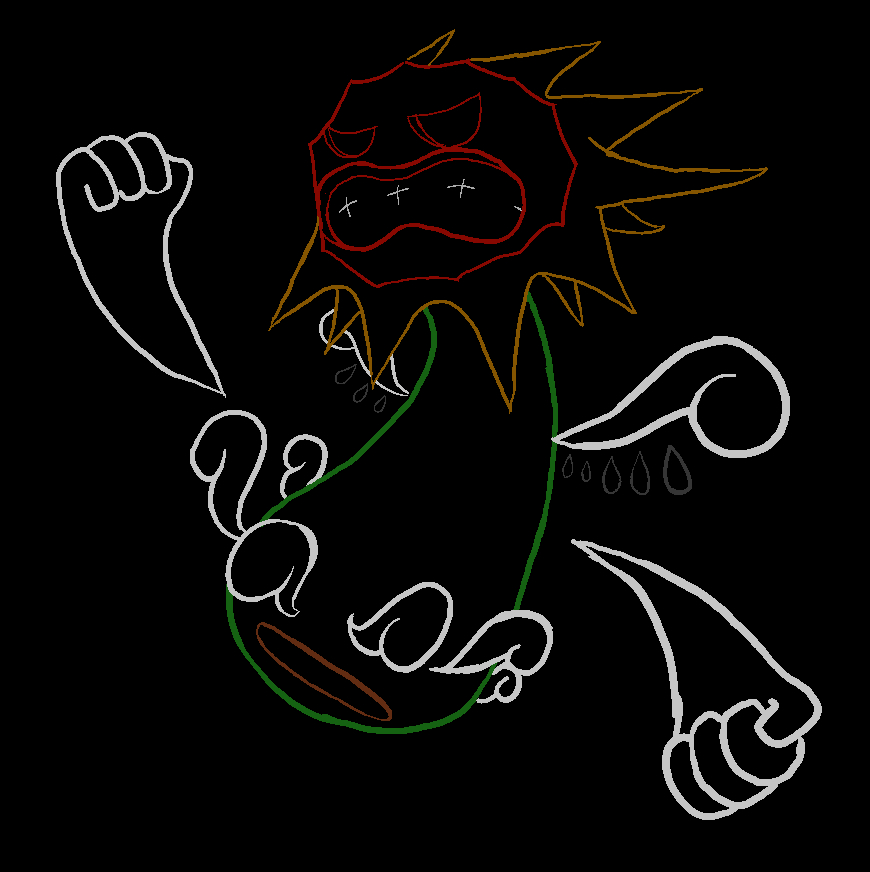 Angry Dude Neon by JimmyPiranha