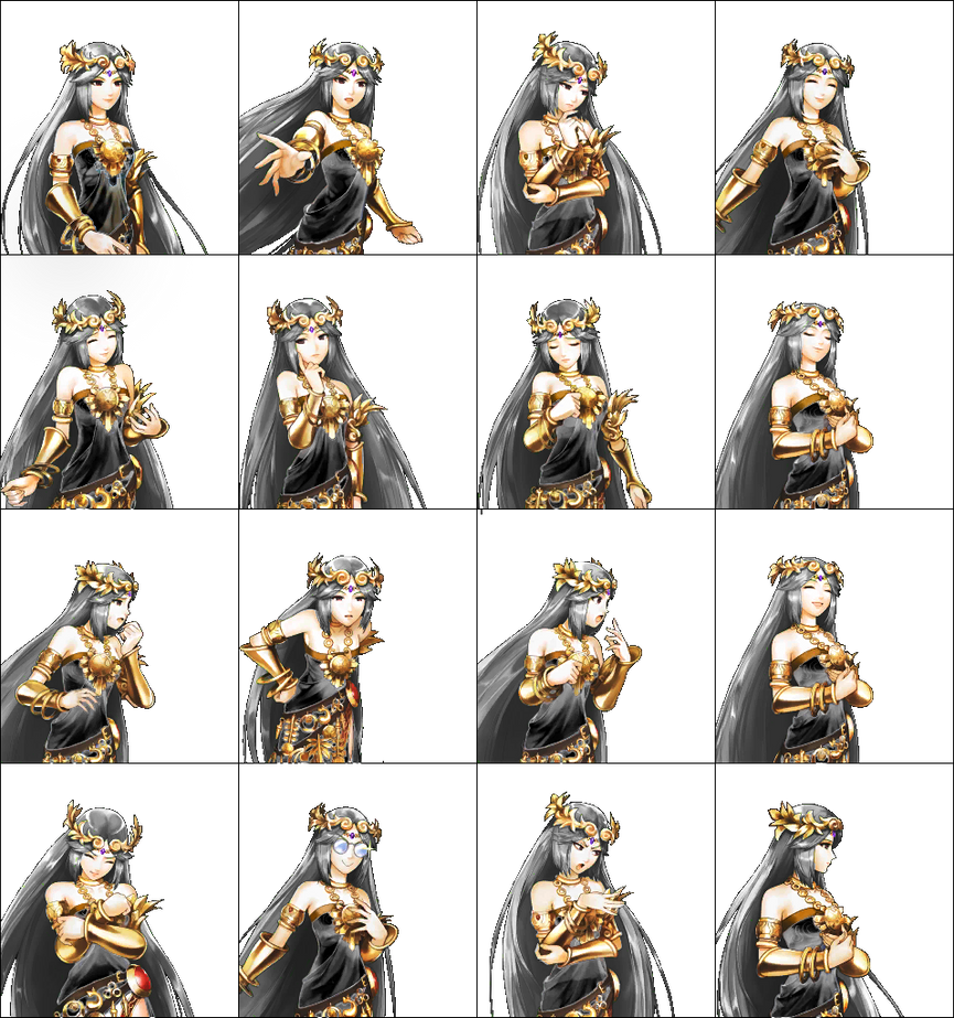 Dark Palutena's Portraits by JimmyPiranha