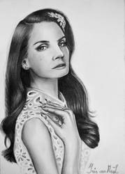 Lana Del Rey drawing by Irishaaa