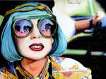 Lady Gaga Color Drawing