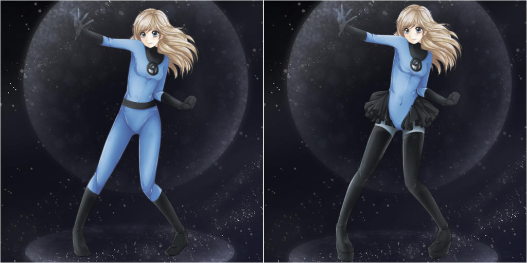 Invisible Woman Costume Comparison by ChiChiCuit