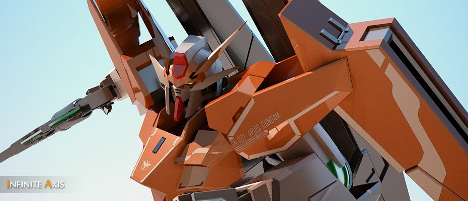 3D Arios Gundam by InfiniteAxis