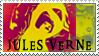 Jules Verne stamp by Armandacyd