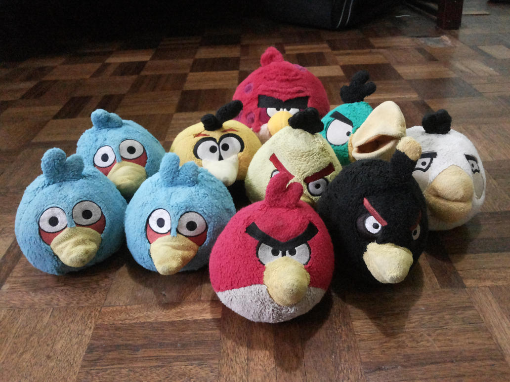 My Angry Birds Plush Collection By Angrybirdsstuff On Deviantart