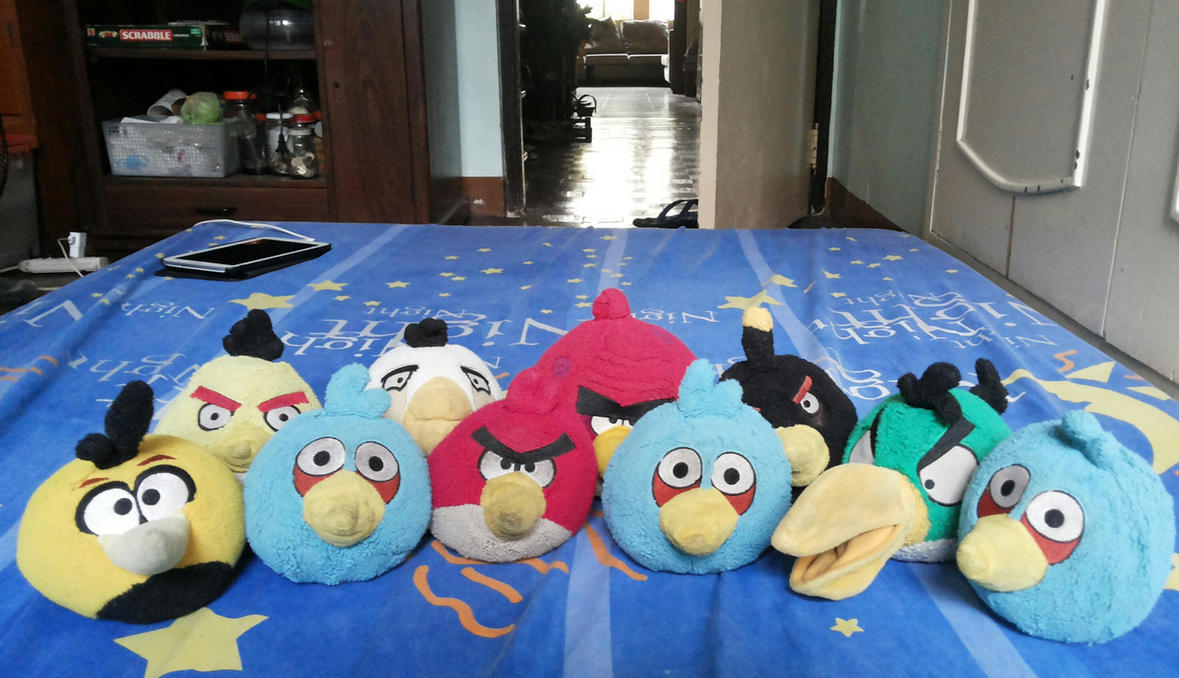 Remake of my angry birds plush collection by angrybirdsstuff on deviantart - Mighty eagle plush toy ...