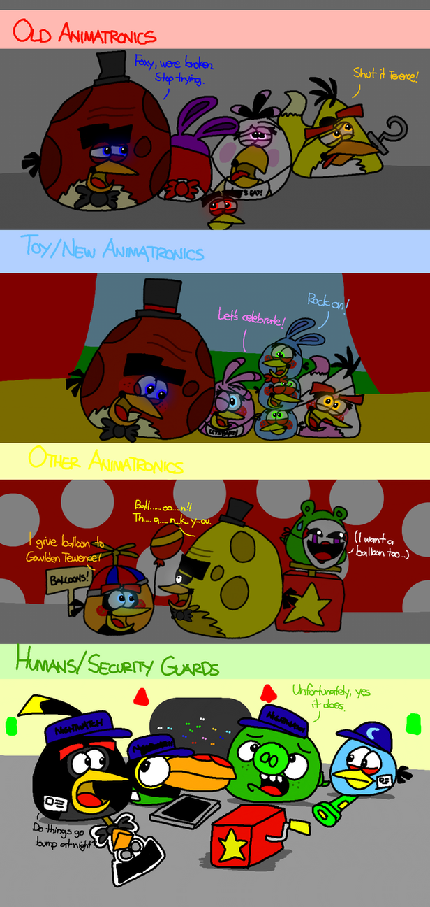 five nights at terence s 2 all birds and pigs by angrybirdsstuff