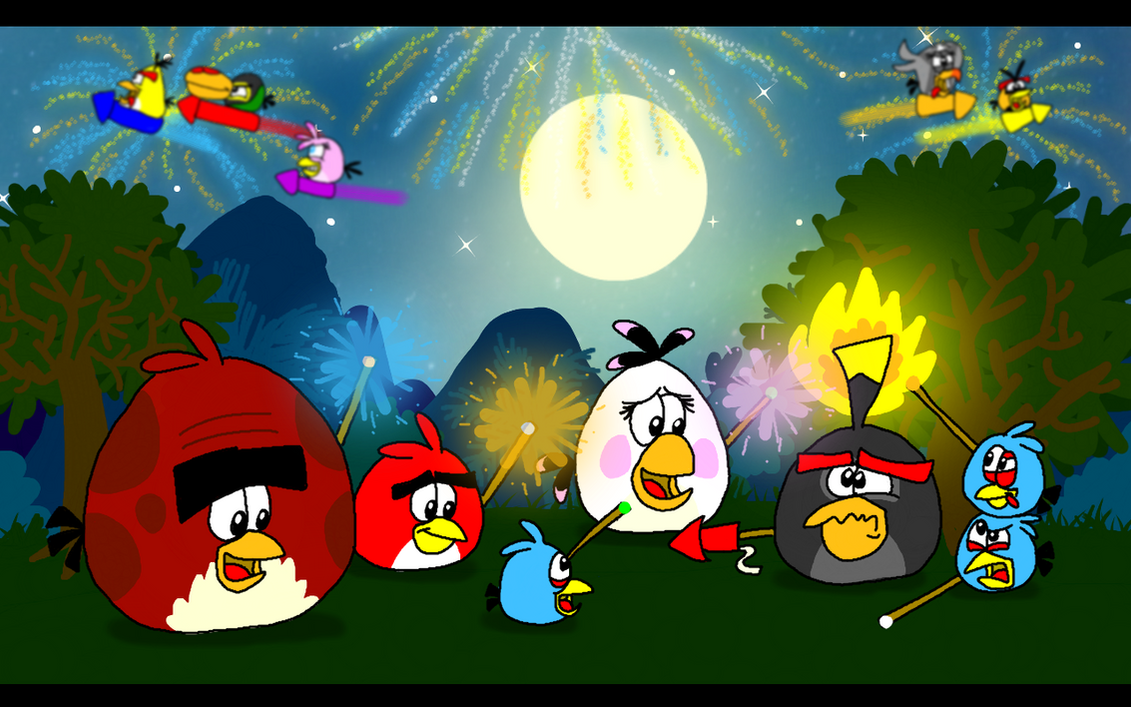 angry birds happy new year 2016 by angrybirdsstuff on deviantart