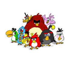 The True Angry Birds Movie Flock by YoshiBowserFanatic