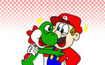 Yoshi and Mario - Old Buddies