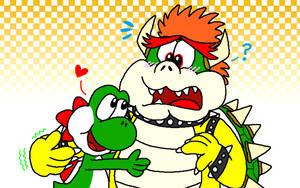Yoshi and Bowser - Party Animals by YoshiBowserFanatic