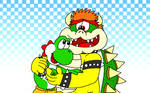 Yoshi and Bowser - Party Animals (Version 2)