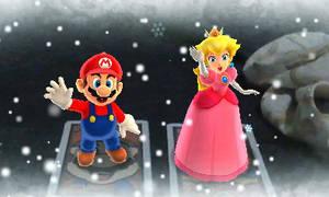 Mario and Peach Waving at You by YoshiBowserFanatic