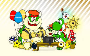 Three Gaming Reptiles and a Switch by YoshiBowserFanatic