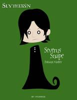 HP Cards- Snape by Hyuknice