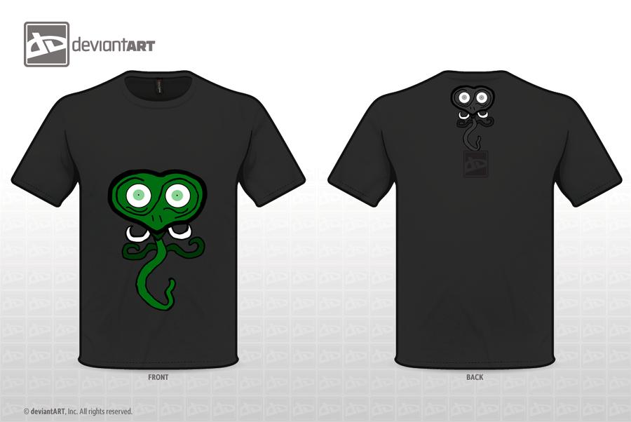 Cute Green Alien Worm Monster T Shirt By Liviaalexandra On
