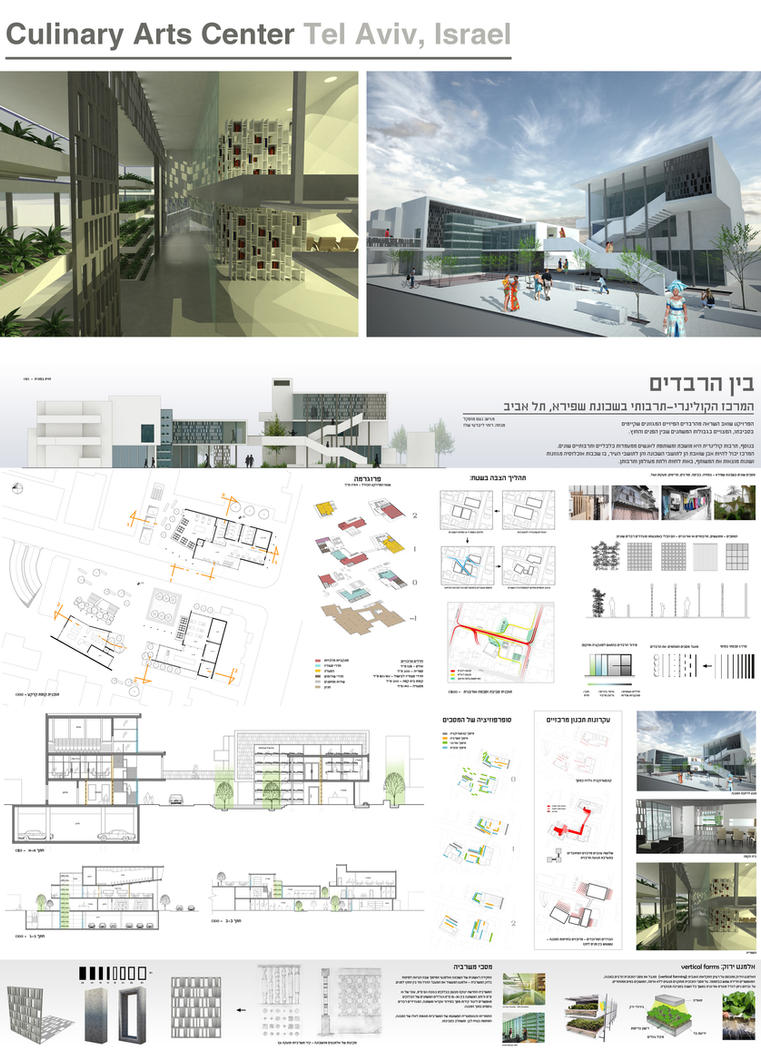 Culinary arts center tel aviv by noamm on deviantart for Art architectural