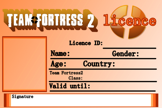 Team Fortress2 Licence - Blank