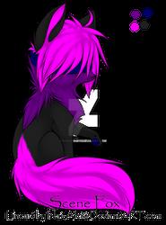 Blind Scene Fox  fuchsia purple black klein closed