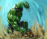 Hulk vs Wolverine speedpaint