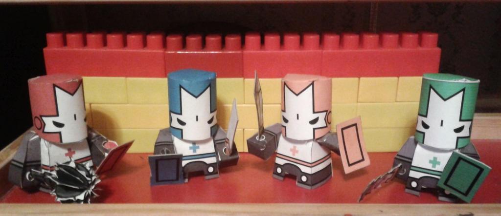Castle Crashers Knights by Chentzilla