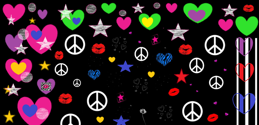 Peace And Love Iphone Wallpaper : Love And Peace Wallpaper by DerianDavid on DeviantArt