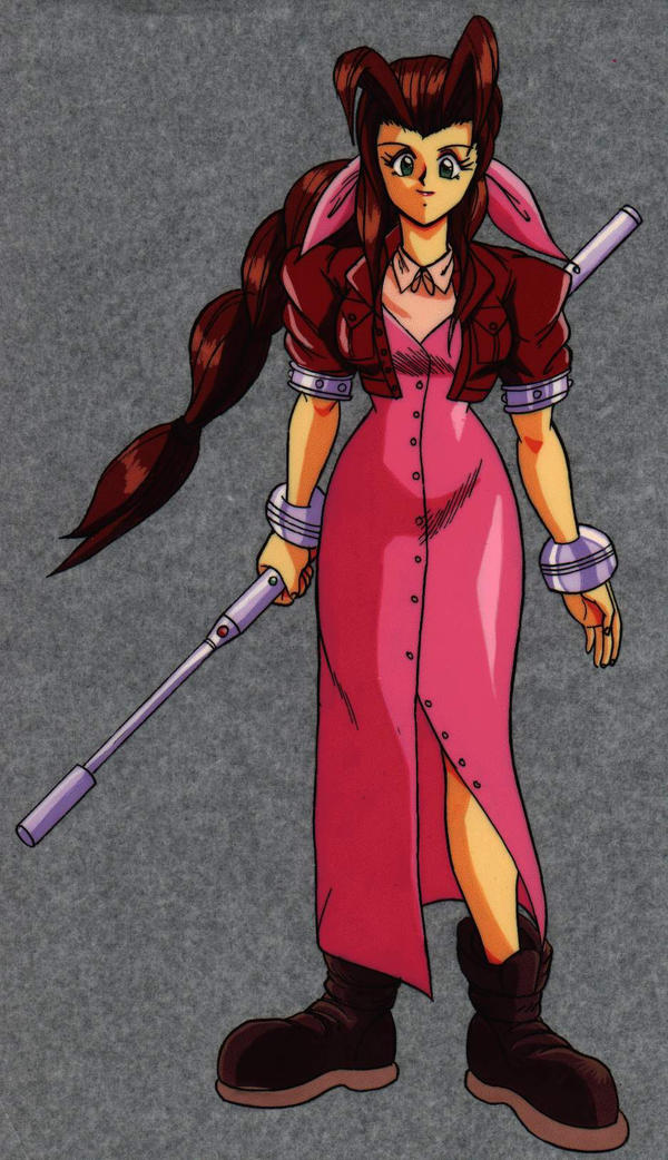 old memories aerith cel by Shayeragal