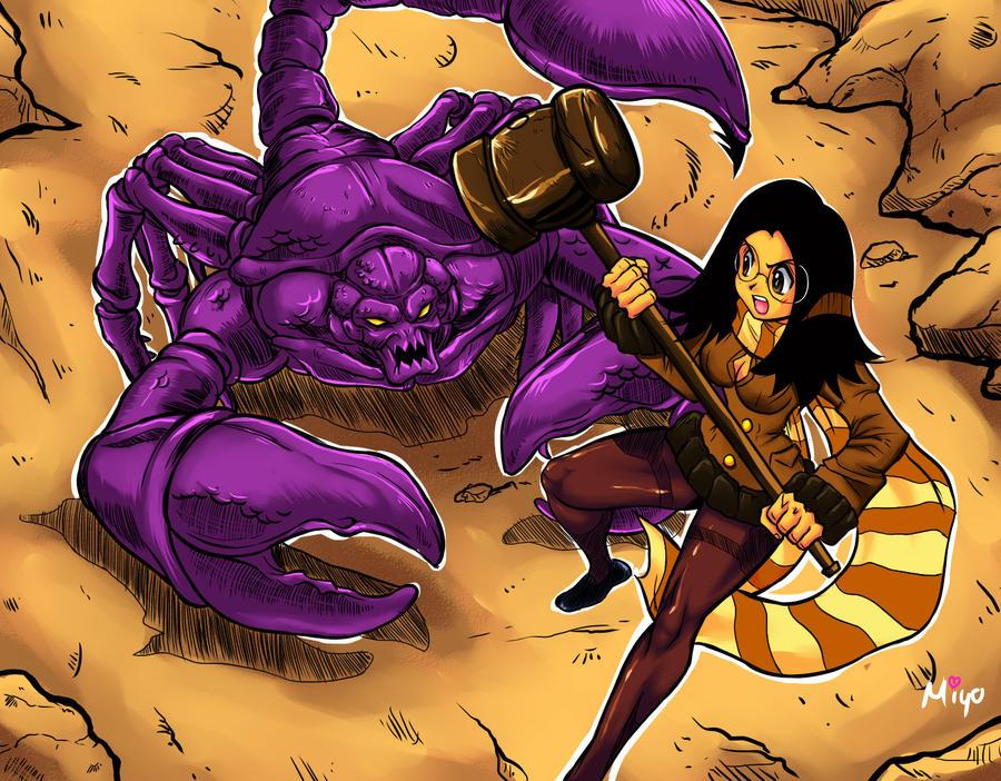 Hikaru Senko vs the Demon of Sand by Shayeragal