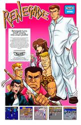Renegade arcade Flyer alternate version