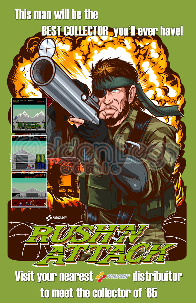 Rush n attack Flyer free by Shayeragal