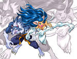 tailban and felicia halloween team up
