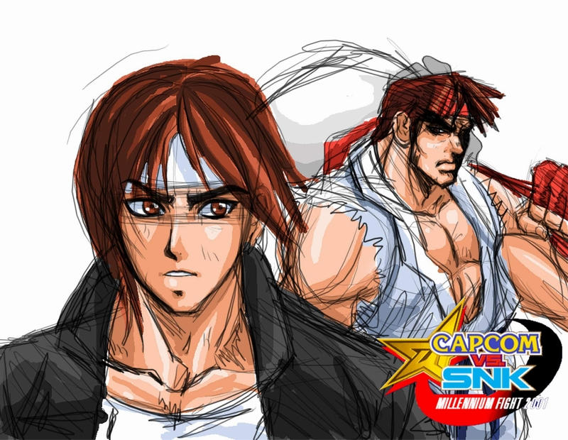 Kyo and Ryu by Shayeragal