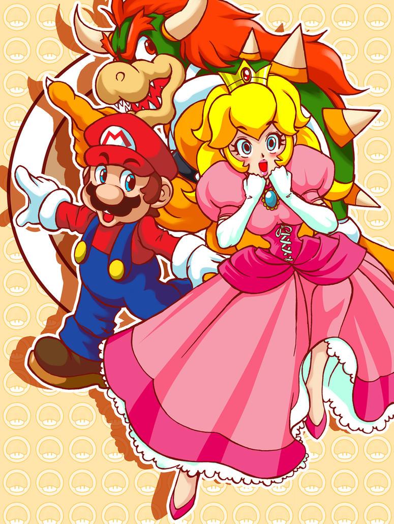 Super Princess Peach Team by Shayeragal