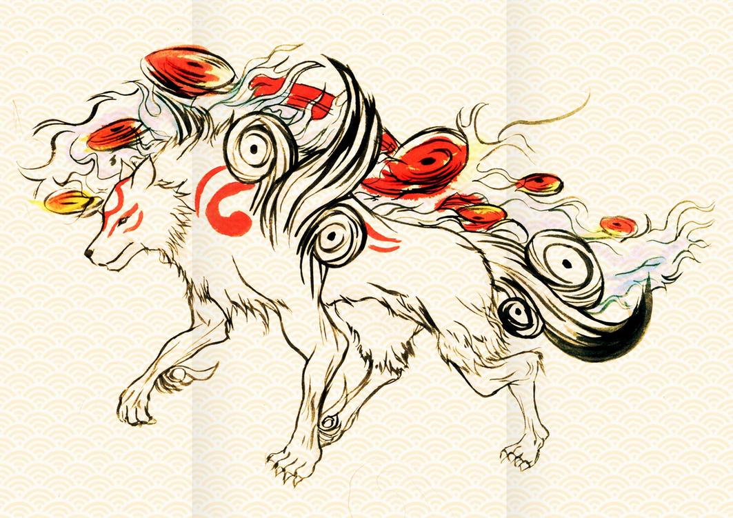 Okami Amaterasu art design by Shayeragal