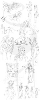 AVP and Mass Effect Sketches