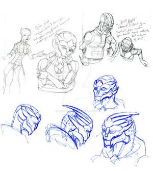 A few Turian Sketches