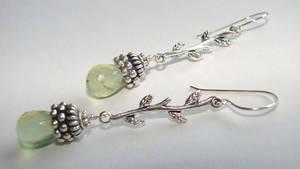 Prehnite Vine Earrings by CrysallisCreations