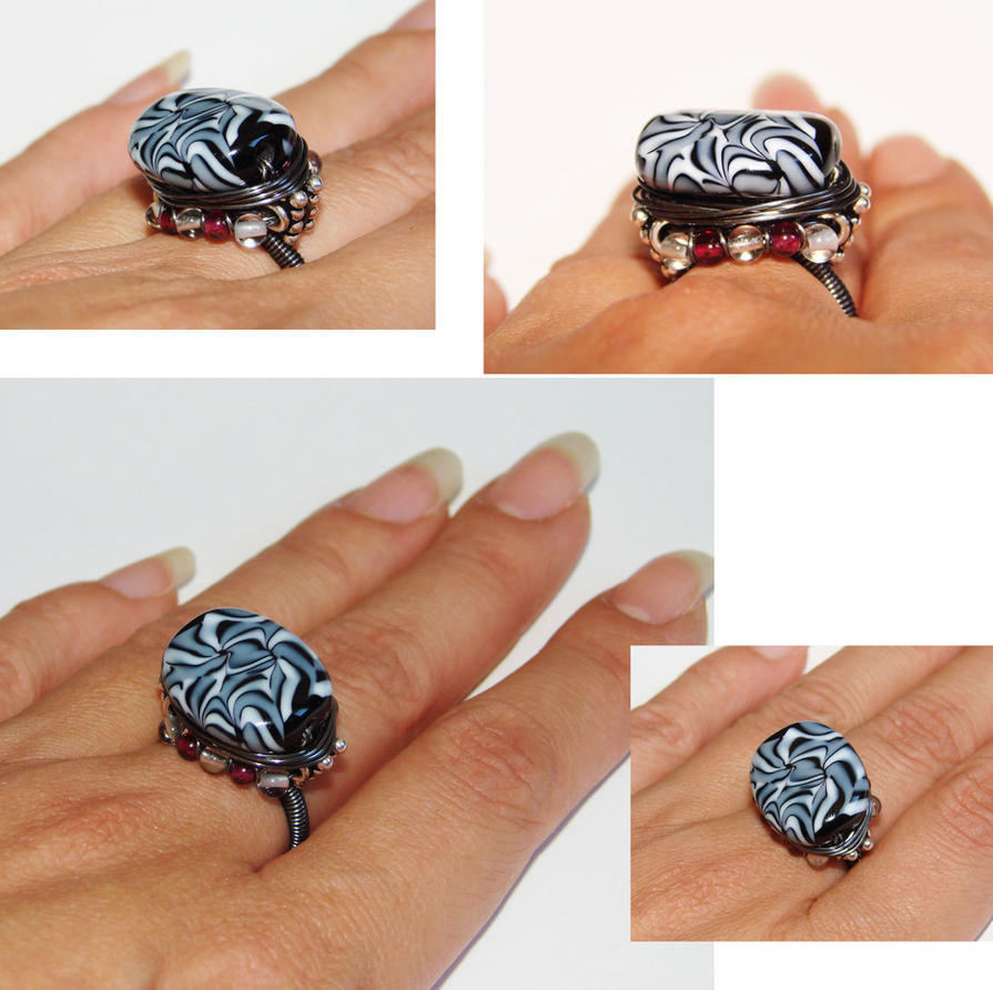 Graphic wired ring by CrysallisCreations