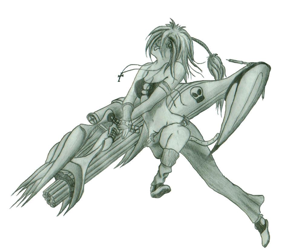 Hot Chick Big Gun by ~PYTEEMEE on deviantART