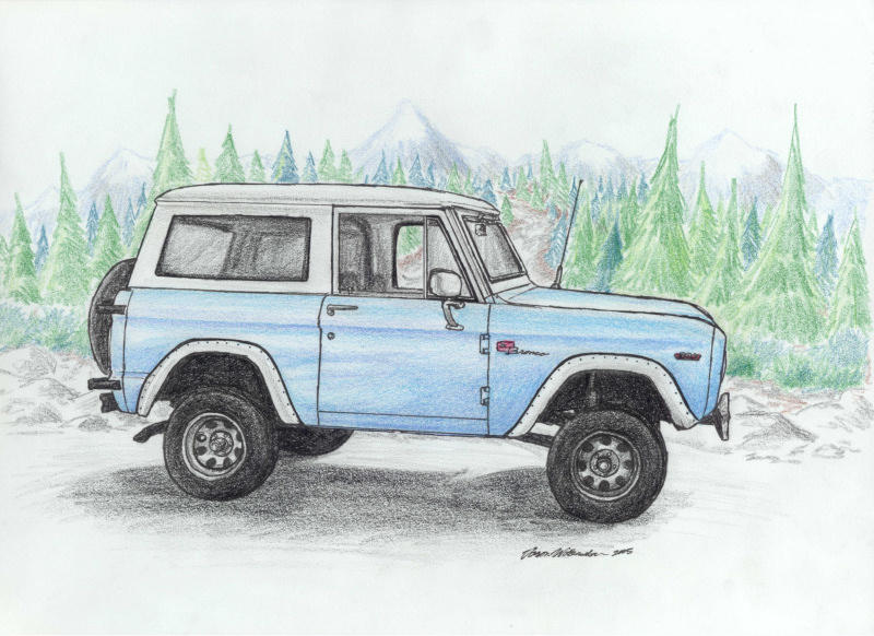 Ford Bronco By Wannabemustangjockey