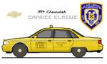 Chevy Caprice yellow cab