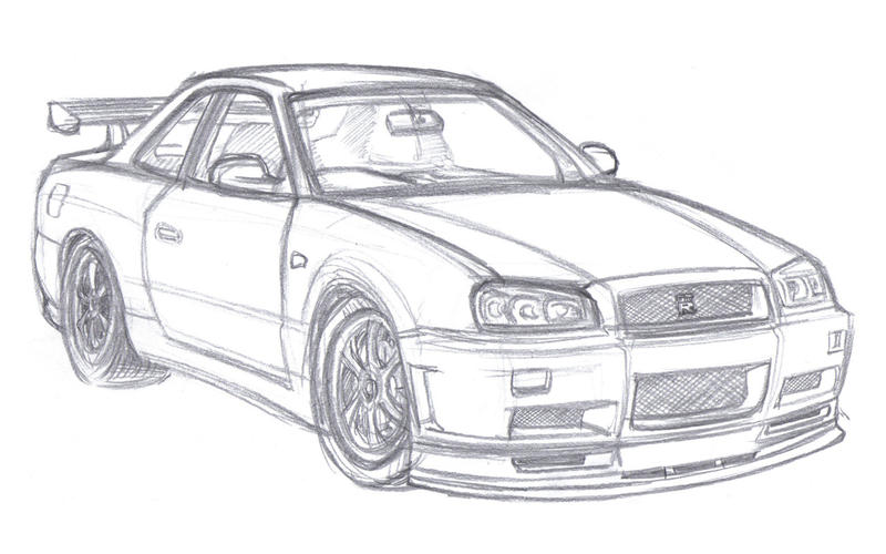 nissan r33 gtr coloring pages - photo#17