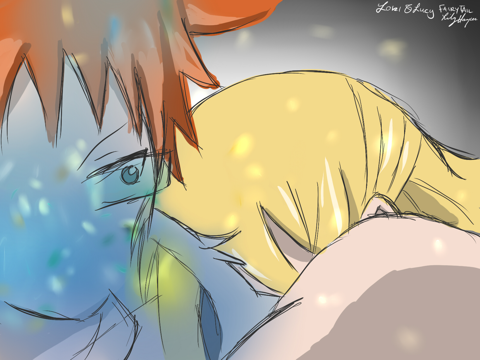 Lucy and Loke  Fairy Tail by harperLFairy Tail Lucy And Loke Kiss