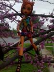 Toralei in tree by autumnrose83
