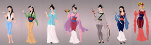 Mulan Wardrobe in Goddess Scene